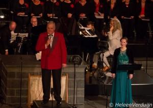 Dirigent Gerard Brëas met Wendy Krikken en Jan Vayne